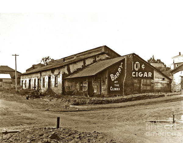 Photograph -  First Theatre Pacific St. Monterey California Circa 1905 by California Views Archives Mr Pat Hathaway Archives