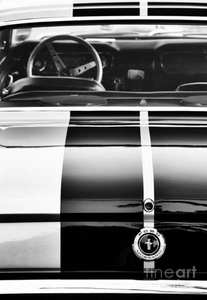 Wall Art - Photograph -  Ford Mustang Rear Monochrome by Tim Gainey