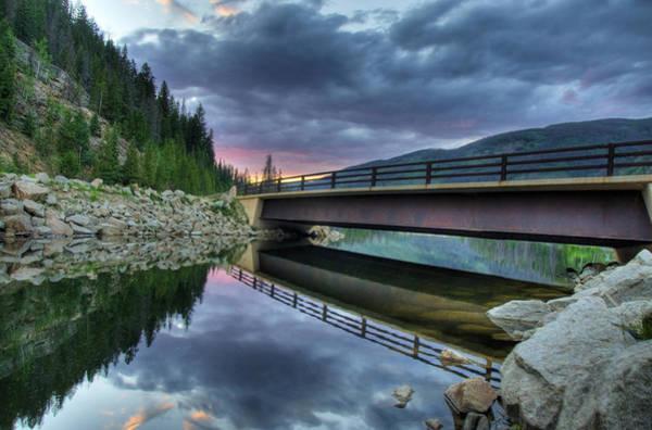 Lake Granby Wall Art - Photograph -  Forest Bridge by Jack Dean