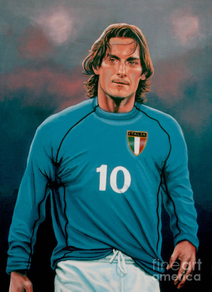 Stadium Painting -  Francesco Totti 2 by Paul Meijering