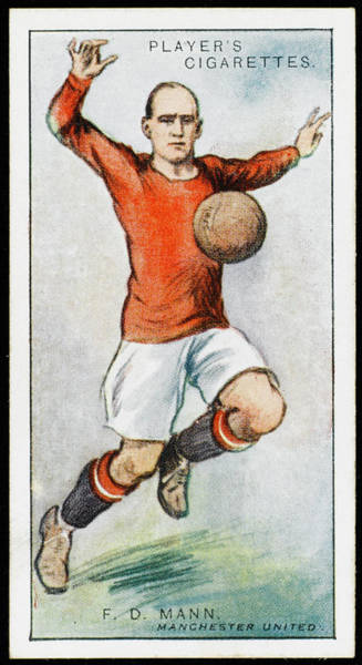 Manchester Drawing -  Frank D Mann, Defender For Manchester by Mary Evans Picture Library