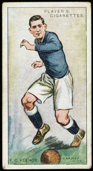 Wall Art - Drawing -  Fred Keenor, Player For Cardiff City by Mary Evans Picture Library