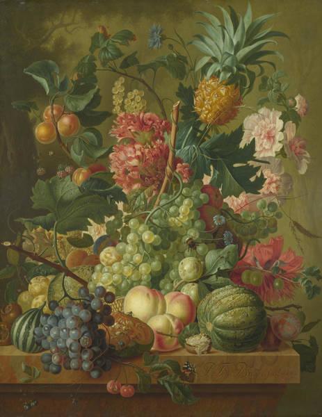 Wall Art - Painting -  Fruit And Flowers  by Paulus Theodorus van Brussel