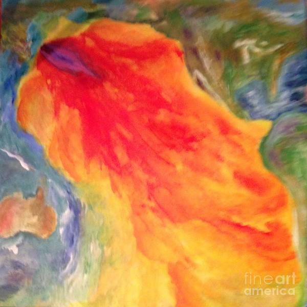 Painting -  Fukushima Madness - Wake Up by Bebe Brookman