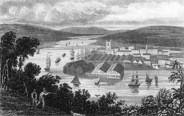 Devonport Wall Art - Drawing -  General View From Mount  Edgcombe by Mary Evans Picture Library