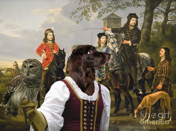 German Pointer Painting -  German Longhaired Pointer Art Canvas Print by Sandra Sij
