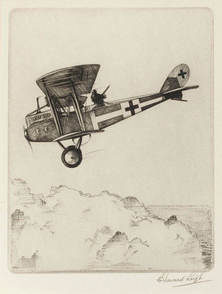 The Specials Drawing -  German Two-seater Biplane Used by Mary Evans Picture Library