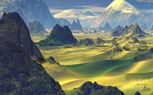 Sand Dunes Digital Art -  Gobi Desert And Dunes Land  by Heinz G Mielke