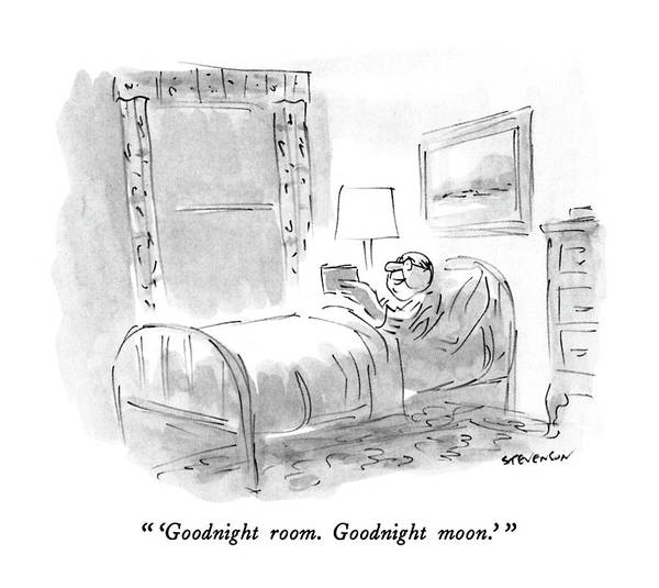 January 8th Drawing -  'goodnight Room. Goodnight Moon.' by James Stevenson