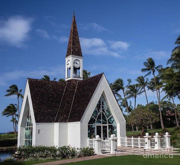 Grand Hotel Photograph -  Grand Wailea Hawaiian Resort Wedding Chapel On Maui by Edward Fielding