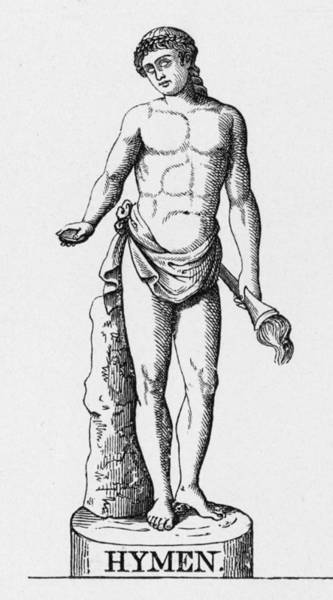 Wall Art - Drawing -  Greek God Of Marriage,  Carrying by Mary Evans Picture Library