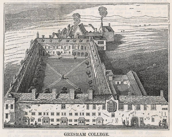 Wall Art - Drawing -  Gresham College,  Founded By Sir by Mary Evans Picture Library