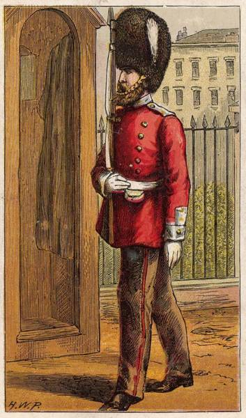 Duty Drawing -  Guardsman On Duty         Date Circa by Mary Evans Picture Library
