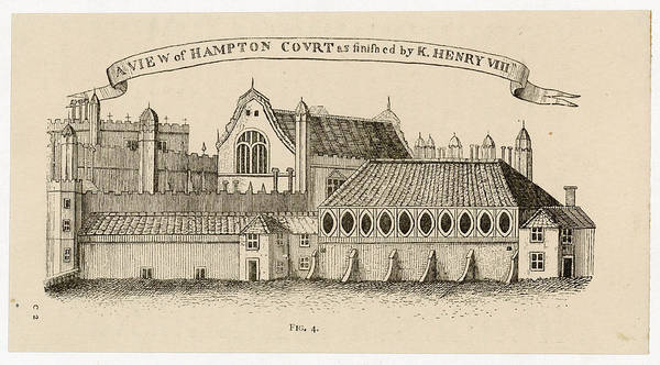 Royal Court Drawing -  Hampton Court,  As Finished By Henry by Mary Evans Picture Library