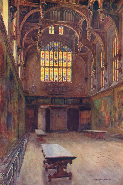 Royal Court Drawing -  Hampton Court The Great Hall by Mary Evans Picture Library