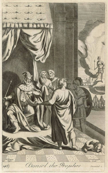 Interpret Drawing -  He Interprets Nebuchadnezzar's Dream by Mary Evans Picture Library