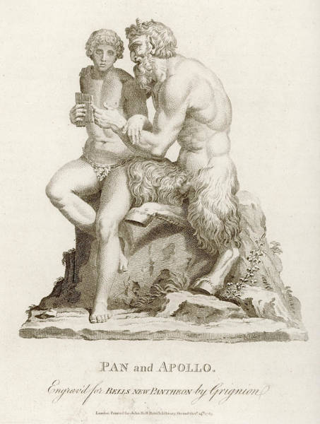 Wall Art - Drawing -  He Teaches The Young Apollo  To Play by Mary Evans Picture Library