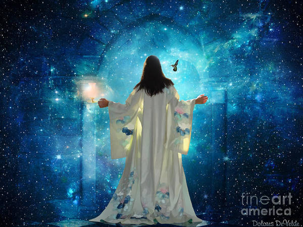 Heaven Digital Art -  Heavens Door by Dolores Develde