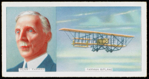 Developed Drawing -  Henri Farman, French Aviator by Mary Evans Picture Library