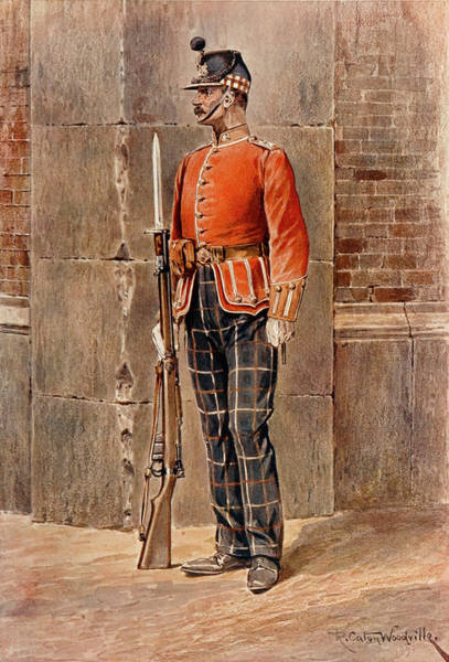 Wall Art - Drawing -  Highland Light Infantry         Date by Mary Evans Picture Library