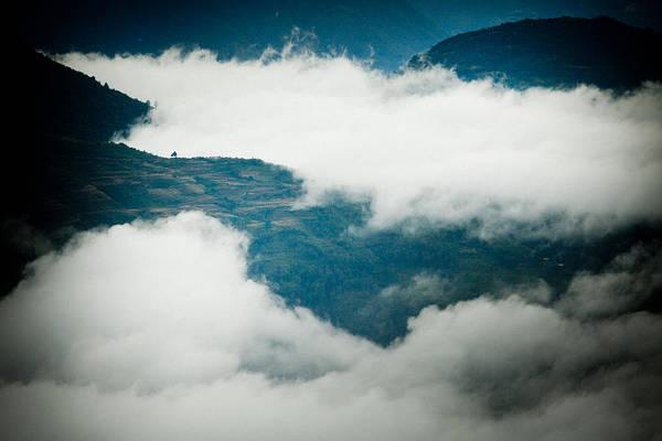 Wall Art - Photograph -  Himalayas Mountain With Fog Panaramic by Raimond Klavins
