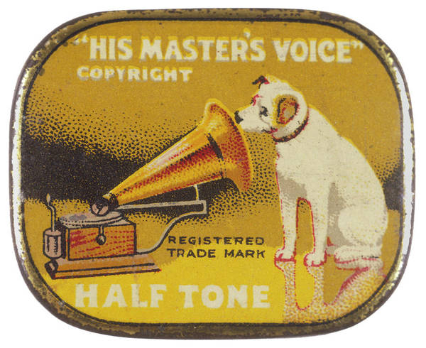 Wall Art - Drawing -  His Master's Voice  The Hmv Dog by Mary Evans Picture Library