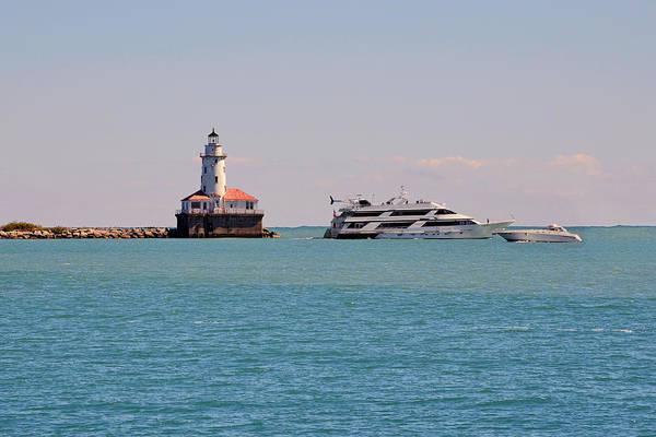 Photograph -  Historical Chicago Harbor Light by Christine Till