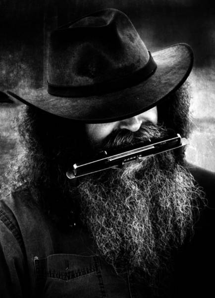 Harmonica Photograph -  Humming Man  by The Artist Project
