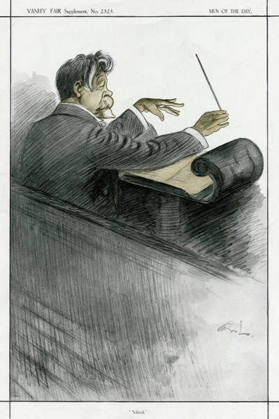 Wall Art - Drawing -  Hungarian Conductor Arthur  Nikisch by Mary Evans Picture Library