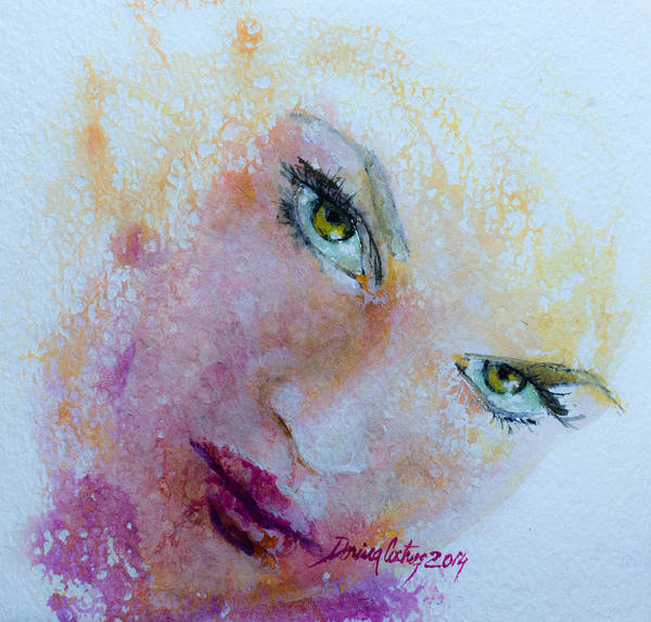 Wall Art - Painting -  I Only Have Eyes For You  by Dorina  Costras