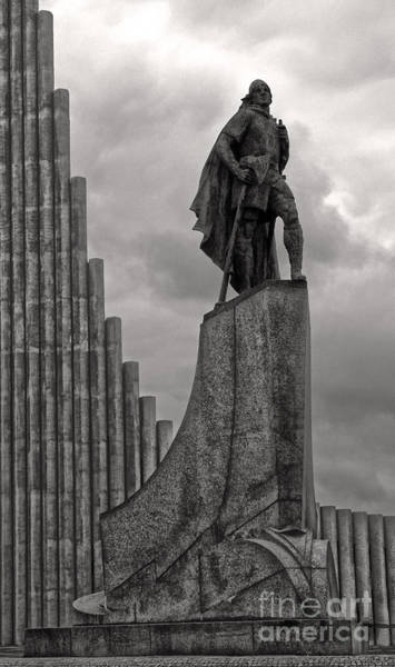 Photograph -  Iceland Leif Erricson Statue by Gregory Dyer