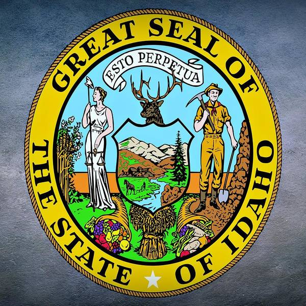 Digital Art -  Idaho State Seal by Movie Poster Prints