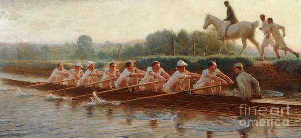 Physical Training Wall Art - Painting -  In The Golden Days by Hugh Goldwin Riviere