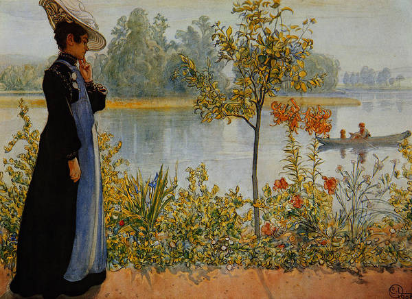 Thoughts Painting -  Indian Summer by Carl Larsson