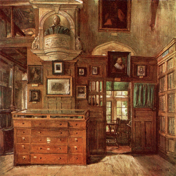 Library Drawing -  Interior View Of The Bodleian,  Oxford by Mary Evans Picture Library