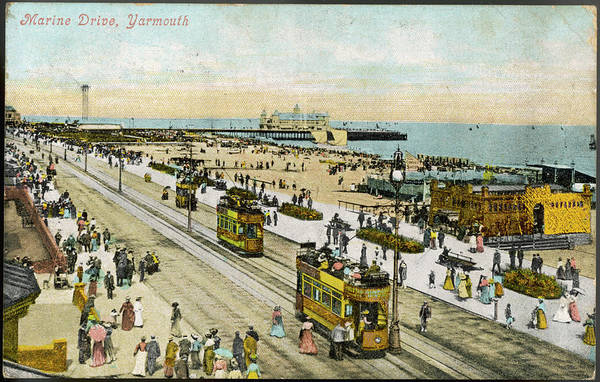 Yarmouth Photograph -  Isle Of Wight  Yarmouth Marine Drive by Mary Evans Picture Library