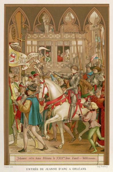 Wall Art - Drawing -  Jeanne D'arc Enters Orleans by Mary Evans Picture Library