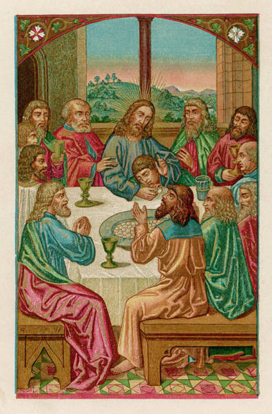 The Specials Drawing -  Jesus Dines With His Twelve by Mary Evans Picture Library