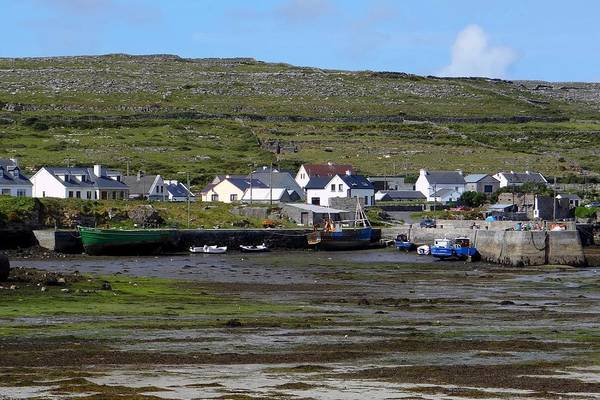 Photograph -  Kilronan Harbour At Low Tide by Keith Stokes