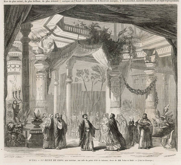 Wall Art - Drawing -  King Solomon's Court  Scene  From Act by Mary Evans Picture Library