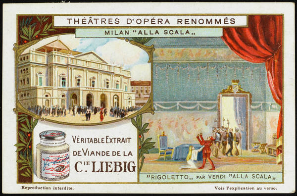 Actually Drawing -  La Scala, Milano, And A Scene by Mary Evans Picture Library