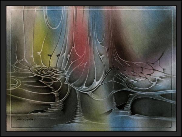 Pastel -  Labyrinth1 '09  by Glenn Bautista