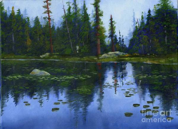 Wall Art - Painting -  Lake Reflections by Sheryl Heatherly Hawkins