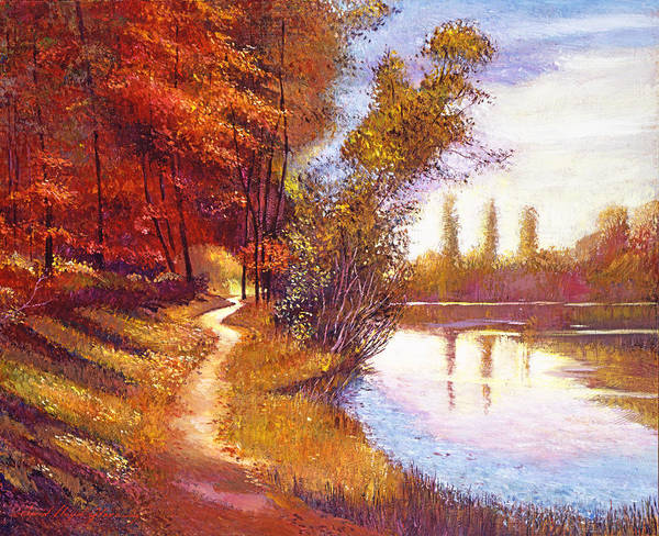 Painting -  Lakeside Colors by David Lloyd Glover