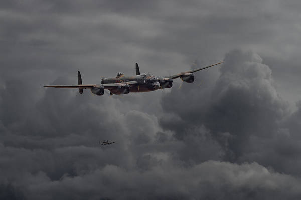 Avro Wall Art - Digital Art -  Lancaster - Heavy Weather by Pat Speirs