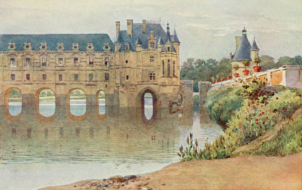 Chateau Drawing -  Le Chateau De Chenonceaux         Date by Mary Evans Picture Library