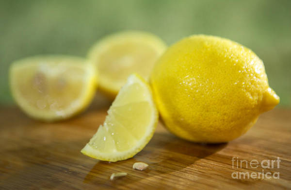 Wall Art - Photograph -  Lemon Citrus Limon Zitronen by Iris Richardson