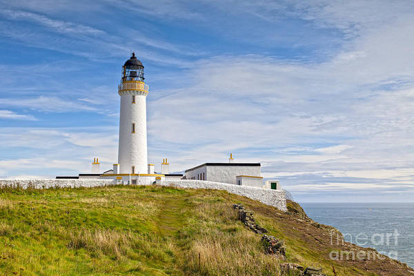 Galloway Wall Art - Photograph -  Lighthouse At Mull Of Galloway Scotland by Colin and Linda McKie