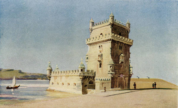 Bethlehem Drawing -  Lisbon  Torre De Belem  (tower by Mary Evans Picture Library