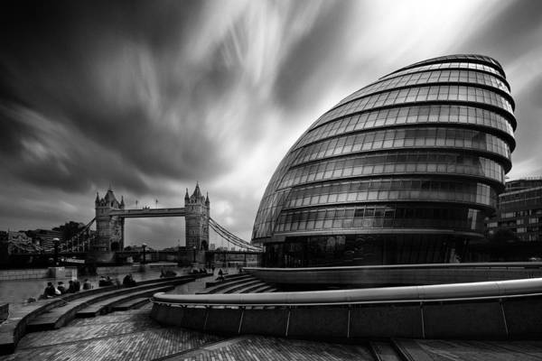 Southbank Photograph -  London City Hall And Tower Bridge.  by Ian Hufton